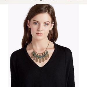 Lucky brand peacock necklace